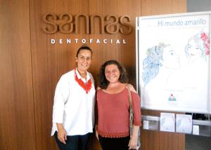 La ilustradora pamplonesa Emi Elvira en la Clínica Sannas