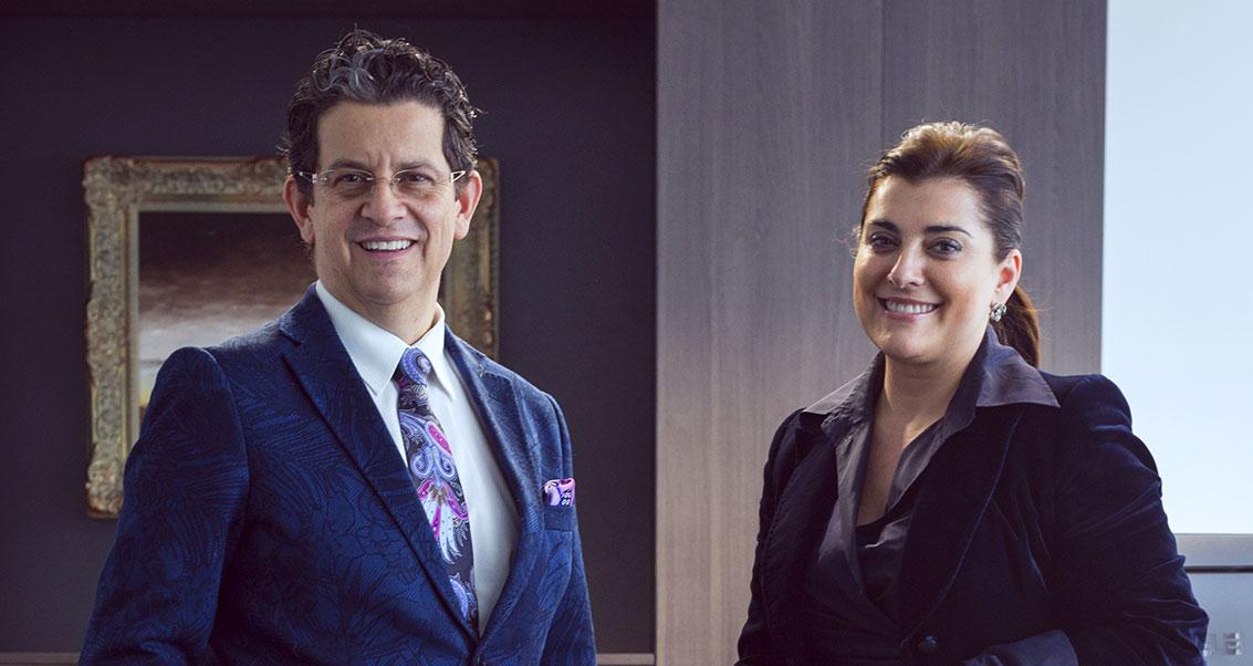 Dr. Luis Felipe Rivas e Irene Puyada